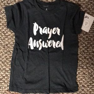 Toddler Tee Shirt Prayer Answered